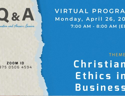 Webinar – Christian Ethics in Business