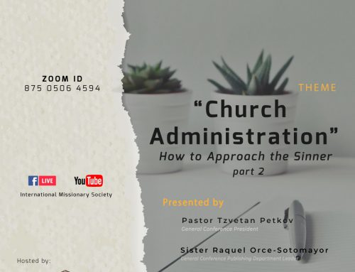 Webinar – Church Administration – How to Approach the Sinner – Part 2